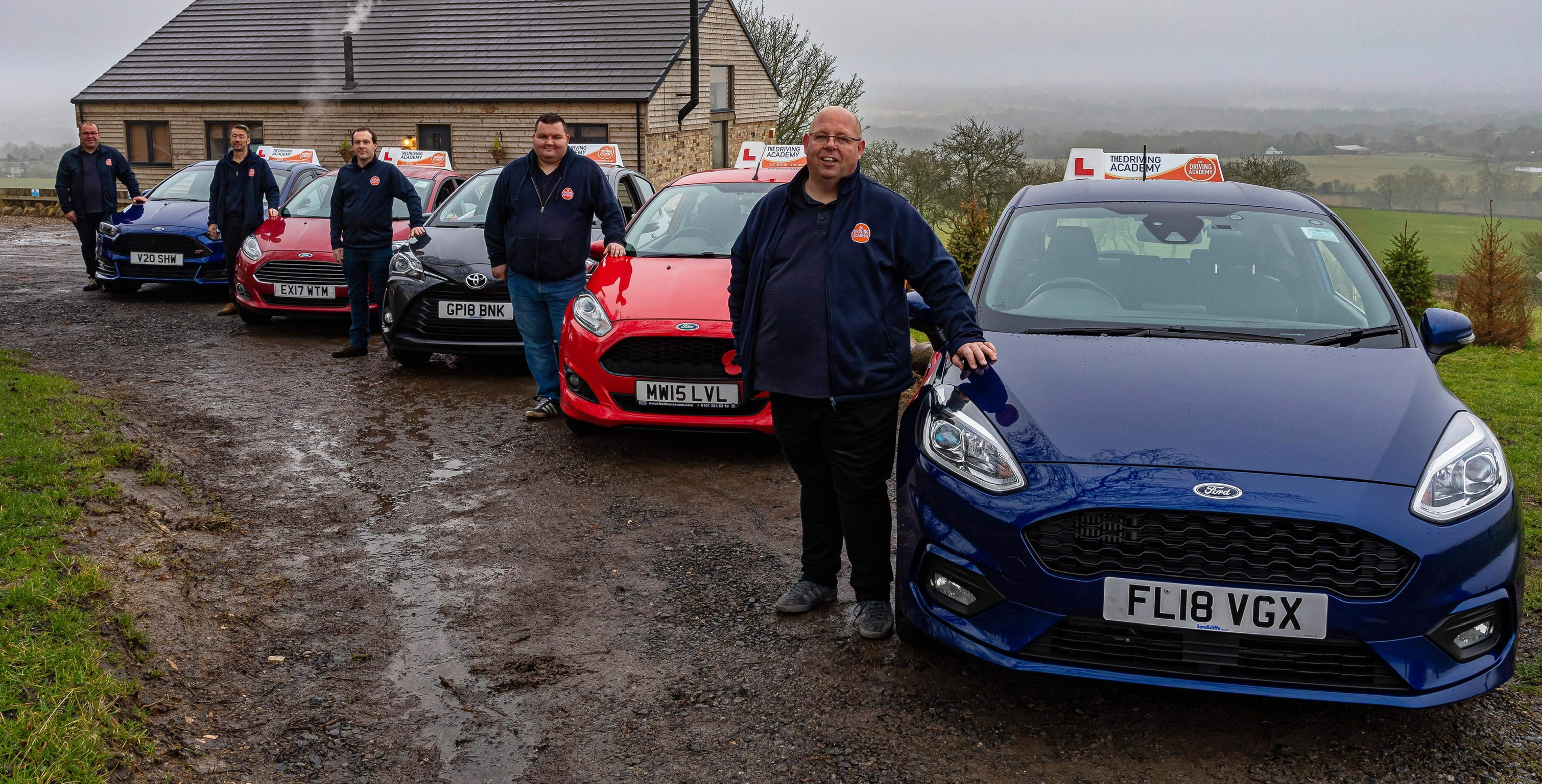 The-Driving-Academy instructors at The Dairy Barn near Crook