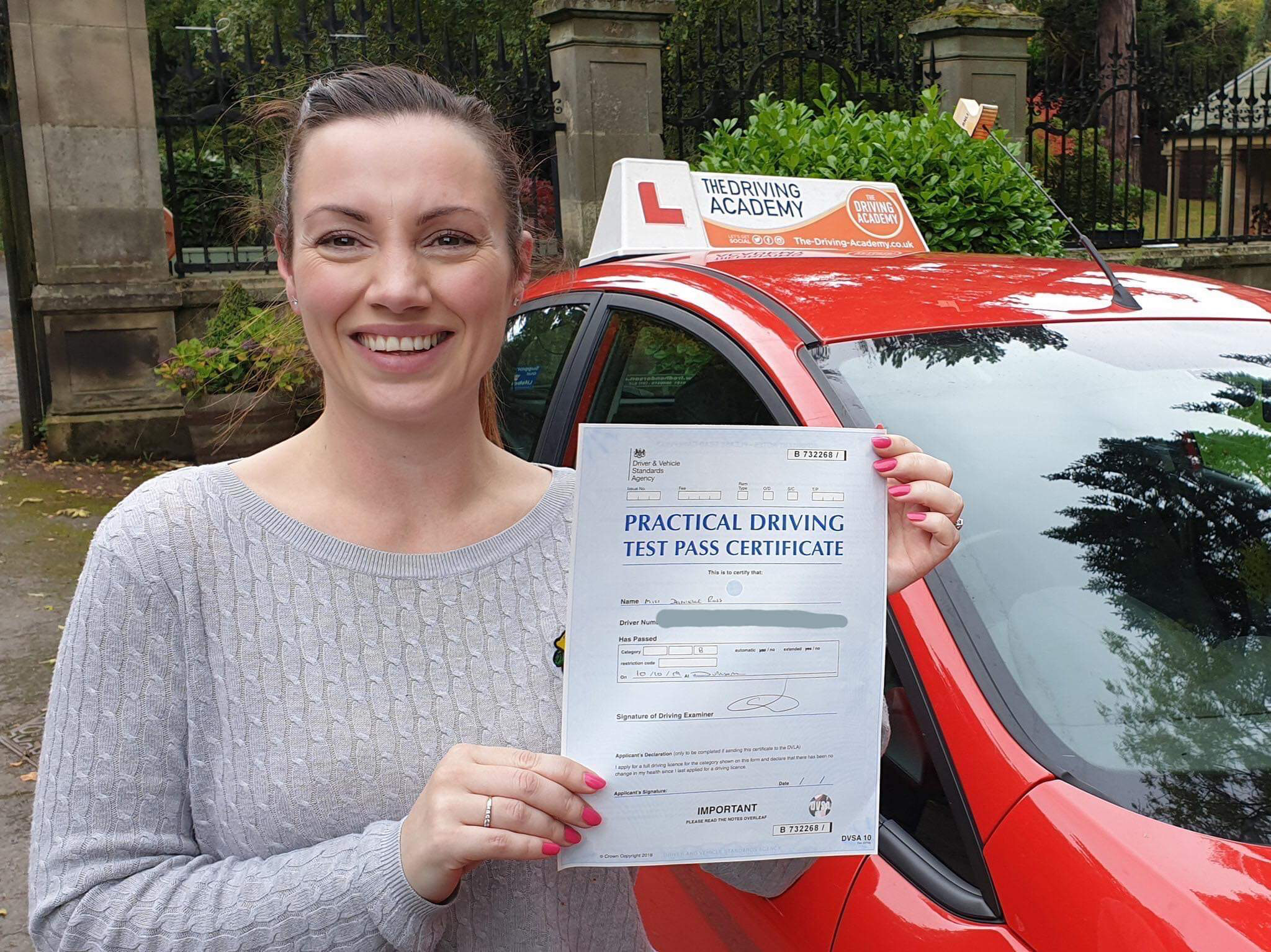Danielle Douthwaite Passing her driving test in Durham with The-Driving-Academy