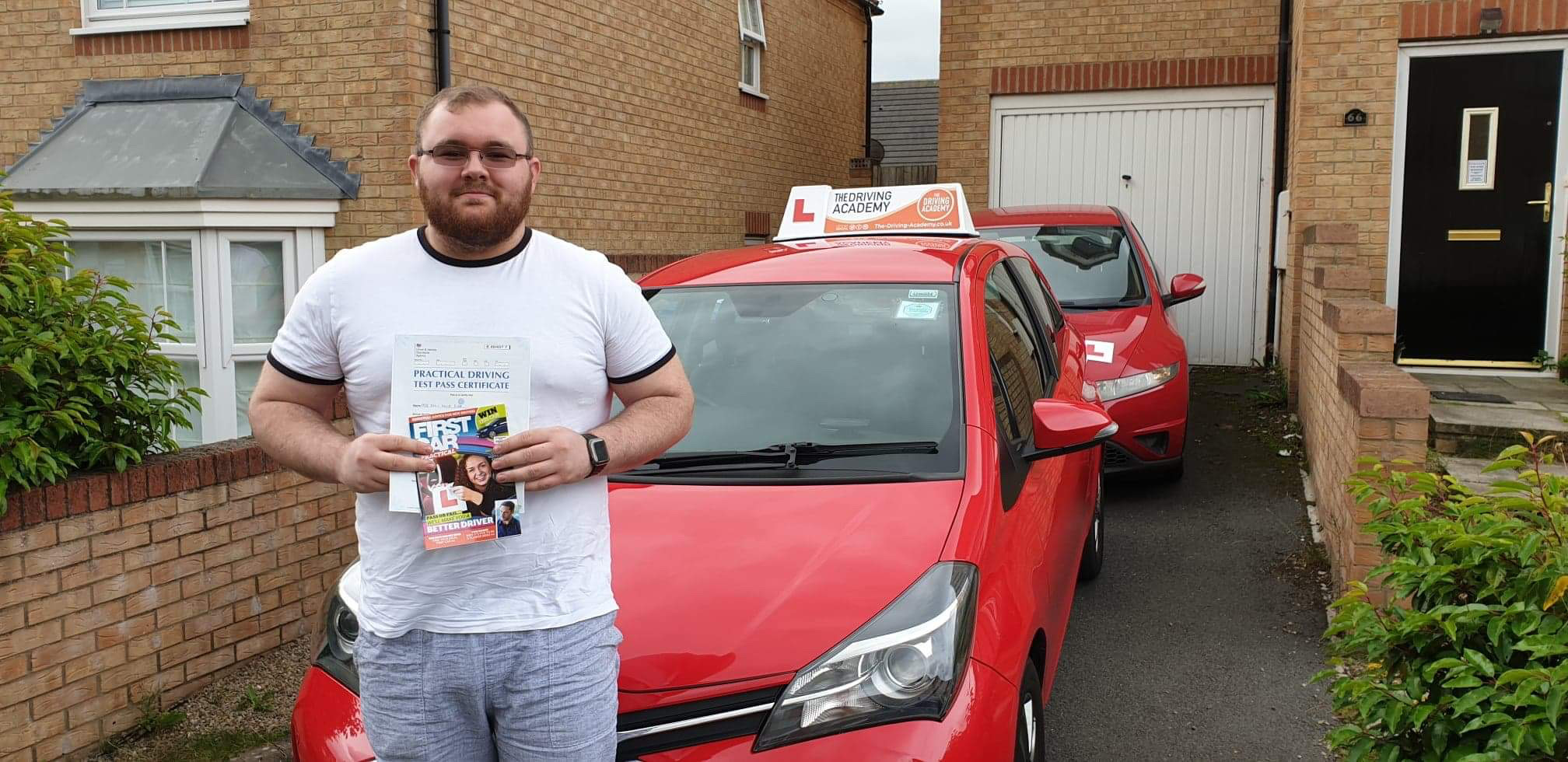 Sean Gibb from Bishop Auckland passed his driving test in Durham