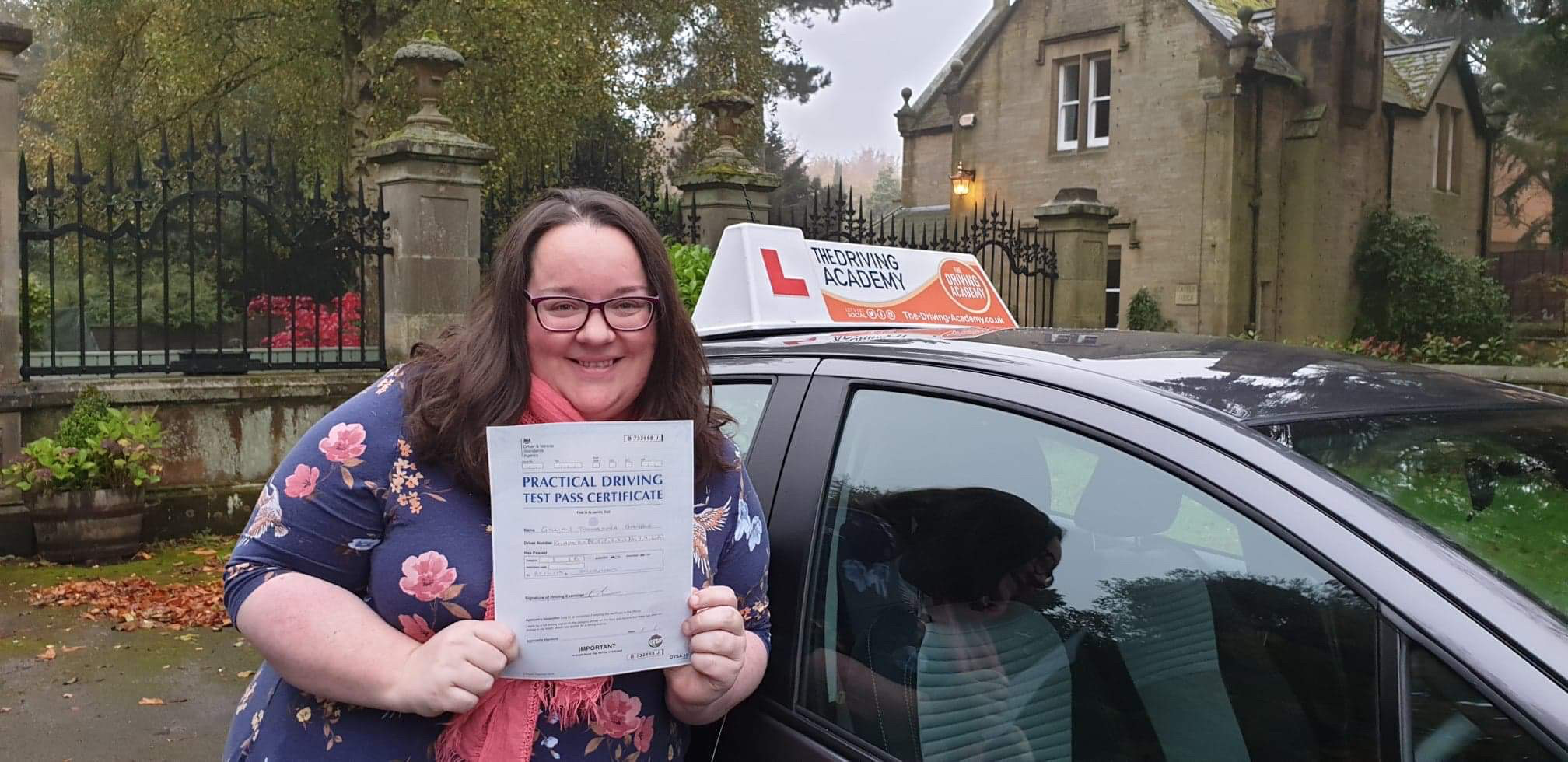 Gillian Gamble passed her driving test in Durham